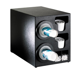 BFL-C-2BT Countertop cup, lid & straw dispensing cabinet