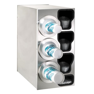 BFL-C-3LSS Countertop cup, lid & straw dispensing cabinet