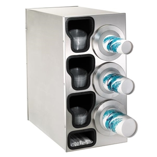 BFL-C-3RSS Countertop cup, lid & straw dispensing cabinet