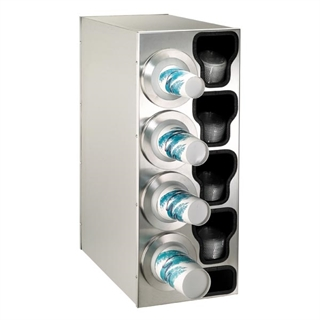 BFL-C-4LSS Countertop cup, lid & straw dispensing cabinet