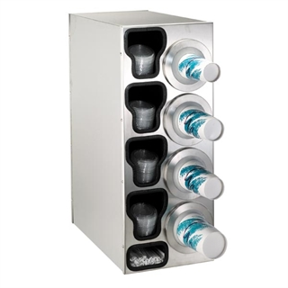 BFL-C-4RSS Countertop cup, lid & straw dispensing cabinet