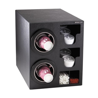 CTC-C-2BT Countertop cup, lid & straw dispensing cabinet