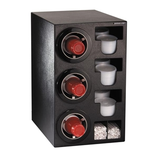 CTC-C-3BT Countertop cup, lid & straw dispensing cabinet