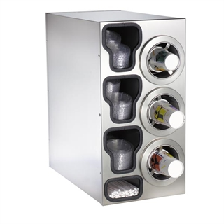 CTC-C-3RSS Countertop cup, lid & straw dispensing cabinet