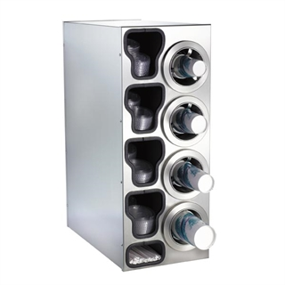 CTC-C-4RSS Countertop cup, lid & straw dispensing cabinet