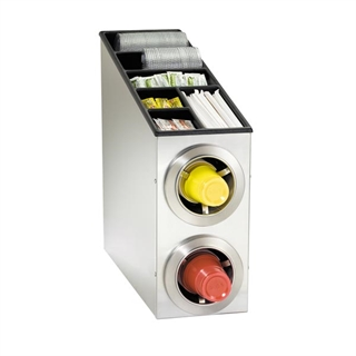 CTC-L-2SS Countertop cup, lid & straw dispensing cabinet