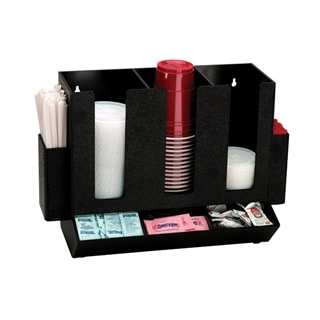 HLCO-3BT Countertop cup, lid & straw organizer