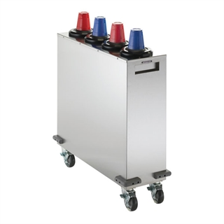 MCDC-SLR4X1 Mobile cup dispensing cart