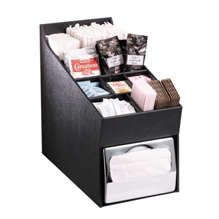 NLO-ADNH Countertop multi-purpose organizer with napkin dispenser