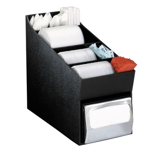NLO-LDNH Countertop multi-purpose organizer with napkin dispenser