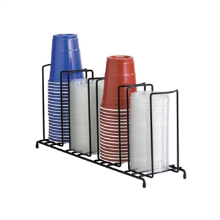 WR-4 Countertop wire form cup & lid organizer