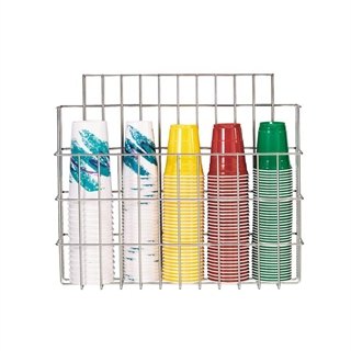 WR-CC-22 Surface mounted wire form cup organizer